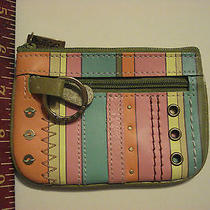 Fossil Zip Top Striped Coin Purse Wallet Photo