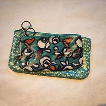 Fossil Zipper Pouches - 2 - Teal-Ish - Birds and Floral Photo
