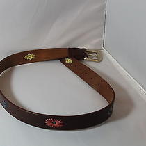 Fossill Leather Girls Belt Leather With Embellished Leather Design Size Med Photo