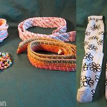 Four Colorful Girl's Beltscloth and Beadslife Is Good Blue Daisy Socks Photo
