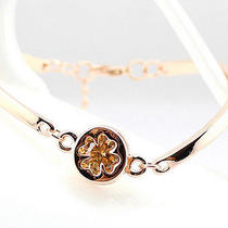 Four-Leaf Clover Bracelet for Women Lady Girls 14k Plated Rosegold Photo