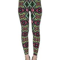 Fragments Leggings Prism Stained Glass Faux-Batik Neontights Leggings Photo