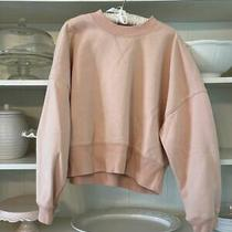 Frame Blush Pink Crewneck Sweatshirt Women's Xl Photo