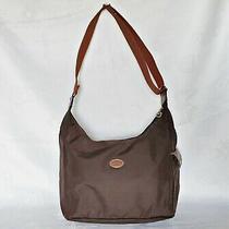 France Authentic Longchamp Le Pliage Hobo Crossbody Messenger Shoulder Brown Bag Photo