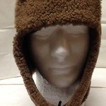 France Lacoste Brown Leather/suede Sheepskin Shearling Aviator Trapper Hat Sz L Photo