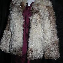 Frances Kahn Fur Curly Lamb Genuine Womens Size 2 - 4 Small High End Jacket Coat Photo