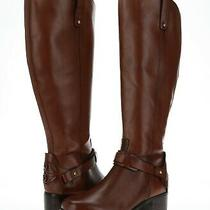 Franco Fortini Campbell 167426 Brown Leather Tall Riding Boots Size 6 W Photo