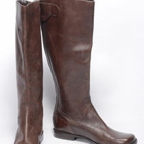 Franco Sarto 7.5 7 Chestnut Brown Hobo Knee Boot Leather Mismate Shoe 199 New Photo
