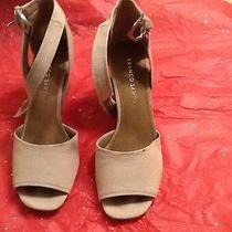 Franco Sarto Ankle Strap Stacked Wedge Heels Size 8 1/2m Photo