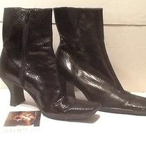 Franco Sarto Black Boots Adult Film Star Used Exotic Dancer Stripper Club Shoes Photo