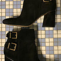 Franco Sarto Black Buckle Booties Size 8.5 Photo