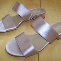 Franco Sarto Blush Pink Low Heel Strappy Slide Sandals Womens Size 8.5 Photo