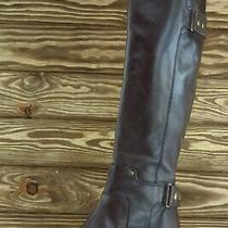 Franco Sarto Boot Sz 8 M Long Brown Leather Women Indiana Photo