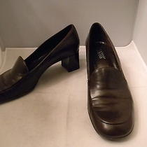 Franco Sarto Brown Leather Loafers 9.5m Eu 40 With 2