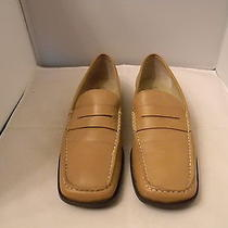 Franco Sarto Brown Leather Loafers Size 8.5m With 1/2