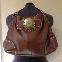 Franco Sarto Brown Pebble Hobo Brass Hardware Photo