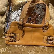 Franco Sarto Handbag Purse Shoulder Bag Yellow Medium Photo