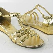 Franco Sarto Nyler Light Gold Sandals Womens Size 5.5 M New 60 Photo