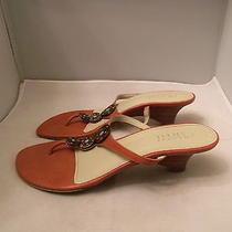 Franco Sarto Pink Flip-Flop Sandals Size 8.5m With 2.25