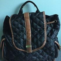 Franco Sarto Small Black Quilted Backpack Photo