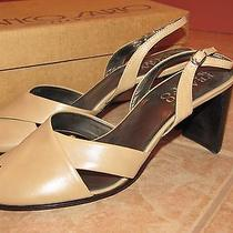 Franco Sarto Women's Heels Mules Leather Sandals Shoes Size 9.5  Photo
