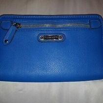 Franco Sarto Women's Navy Blue Stitched Wallet Clutch  Photo