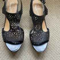 Franco Sarto Womens Wedge Sandals Size 8w Photo