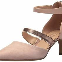 Franco Sarto Womens Davey Fabric Pointed Toe D-Orsay Pumps Blush Size 7.5 Trtd Photo