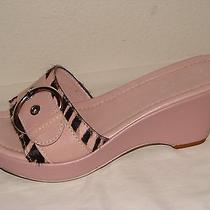 Franco Sarto Womens Pink Leather Slide Wedge Shoe - Size 7.5m Photo