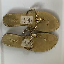 Franko Sarto Gold Sandals Us Sz 10 Photo
