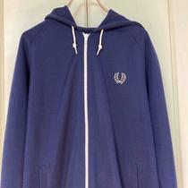 Fred Fred Perry Perry Hoodie Parker Navy Embroidered Logo Size L Photo