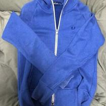 Fred Perry Hoodie Parker Zipblue Blue Size S Photo