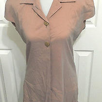 Frederic Molenac Bergdorf Goodman Fits M Rare Blush Shimmer Stretch Taffeta Coat Photo