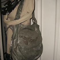 Free Bird by the Sak Gray Vegan Leather Studded Bird Satchel Handbag - 11