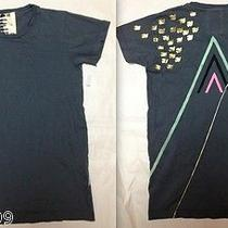 Free City Limited T-Shirt in Music in Love Gray Pink Gold Dove Piano Small New Photo