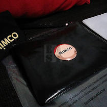 Free Express Authentic Bnwt Mimco Black Medium Pouch Rose Gold Patent Leather Photo