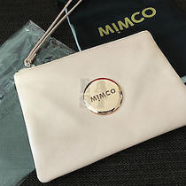 Free Express Authentic Bnwt Mimco Blush Pink Medium Pouch Rose Gold Photo