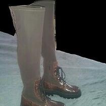 Free Gift. Jeffrey Campbell Over the Knee Boot Women 7 Black Brown Leather Italy Photo