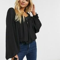 Free People Another Round Bodysuit. Black. Xs. Rrp 60 Photo
