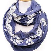 Free People Anthropologie Vintage Lace Infinity Scarf - Charming Blue Photo