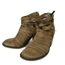 Free People Anthropologie Womens Sz 39/8.5 Leather Ankle Boot Tan Bootie Boots Photo