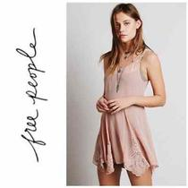 Free People Beads for Days Sheer Tunic Blush S Photo