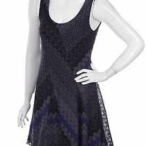 Free People Blue and Black Fit and Flare Dress Large Photo