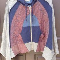 Free People Blue Gray Burnt Blush Size Small S Hoodie Sweatshirt Dolman Rare Photo
