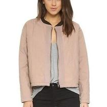 Free People Blush Quilted Liner Bomber Jacket Size S Nwt Photo