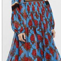 Free People Bold Bloom Medium Dress Blue  Photo