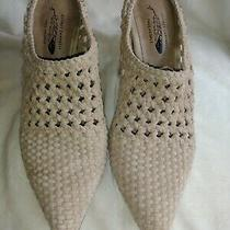 Free People by Jeffrey Campbell Woven Waverly Mule Shoe Slip on Bootie Clog Mule Photo