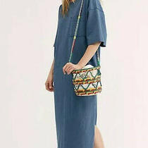 Free People Camilla Shirt Dress Size Xs Steel Teal Midi Maxi Photo