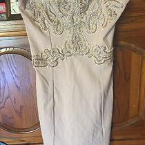 Free People Champagne Blush Strapless Beaded Dress Medium Large Stretch Euc  Photo
