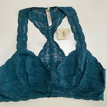 Free People Galloon Lace Racerback Bralette/cropped Top. Green. Xl. Rrp 18.00 Photo